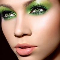 Зелёный макияж